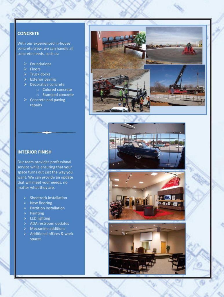 Evans Building Co., Inc. Portfolio